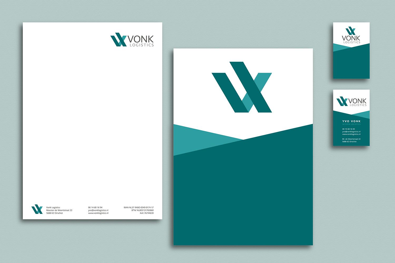 briefpapier visitekaartjes Vonk Logistics