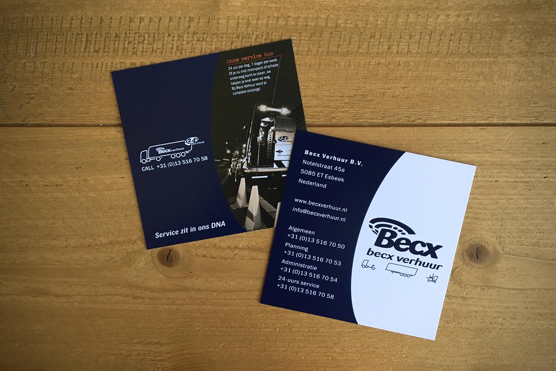Becx Verhuur bali kaartje
