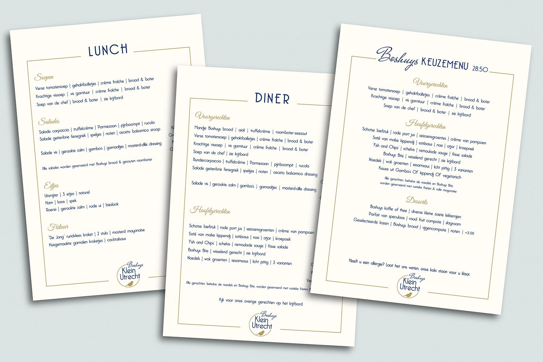 Boshuys klein Utrecht menu