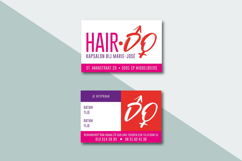 Hair-Do afsprakenkaartje