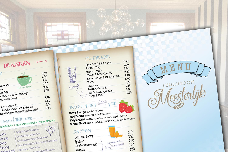 Lunchroom Meesterlijk menukaart