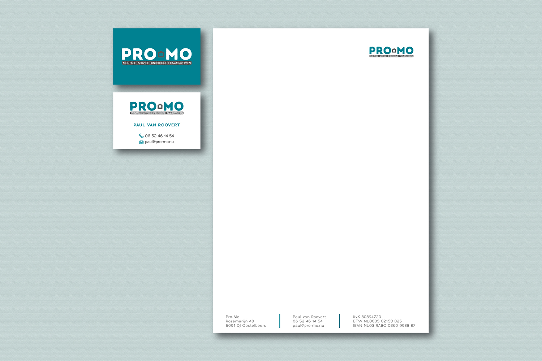 Briefpapier visitekaartjes Pro-Mo