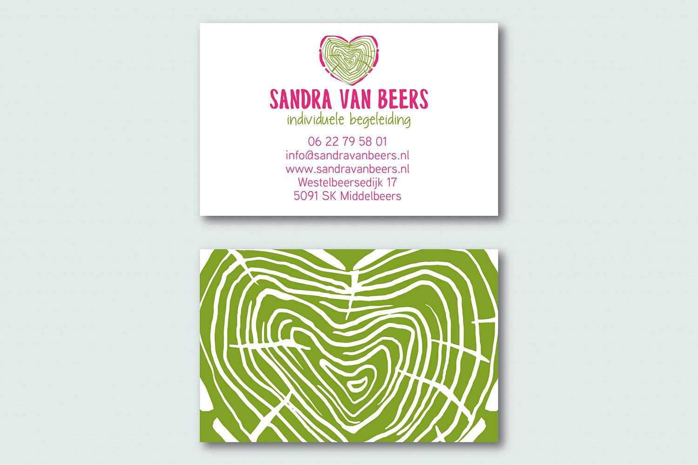 Visitekaartje Sandra van Beers individuele begeleiding